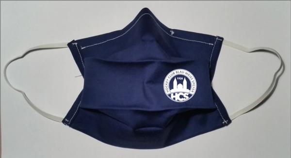 Mund-Nasen-Maske HC Speyer blau-weiß