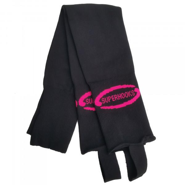 Stutzen schwarz/pink
