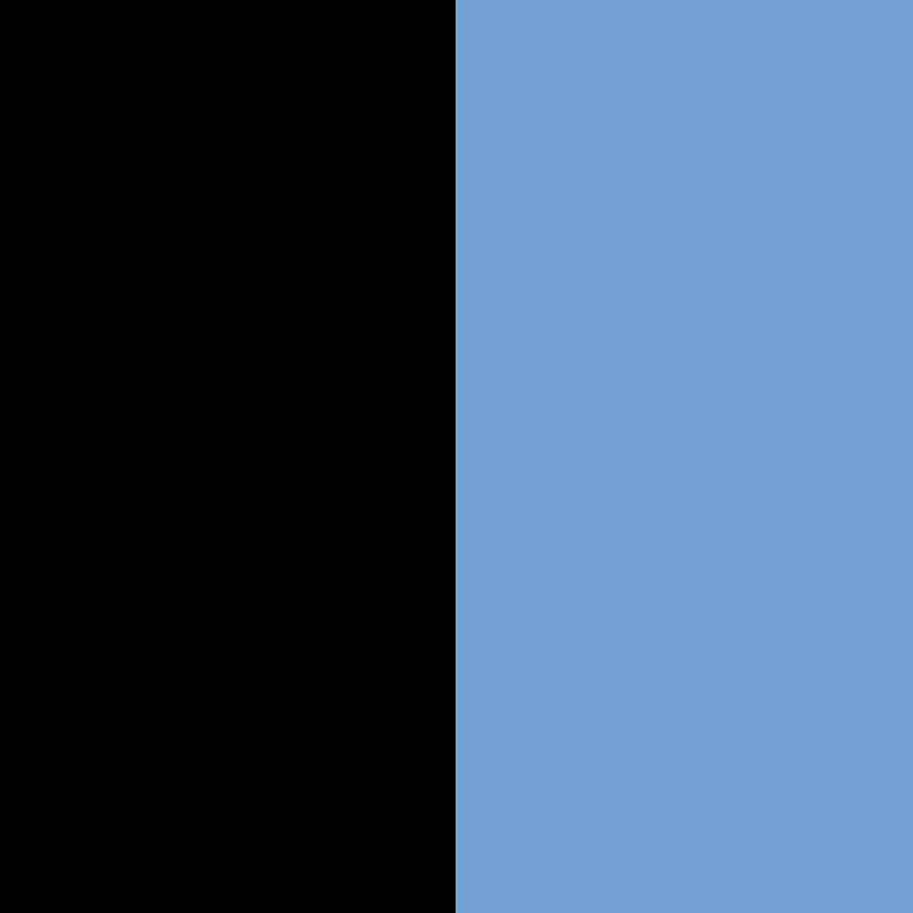schwarz-hellblau
