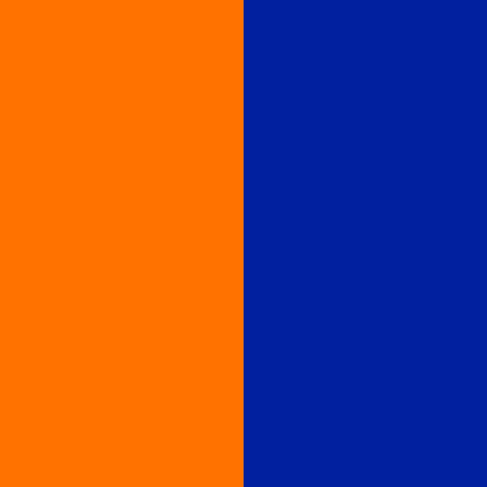 orange-blau