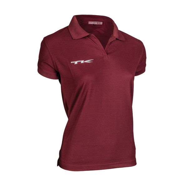 LARISA Polo Shirt (Damen) weinrot