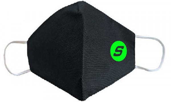 Superhooks Mund-Nasen-Bedeckung neongrün