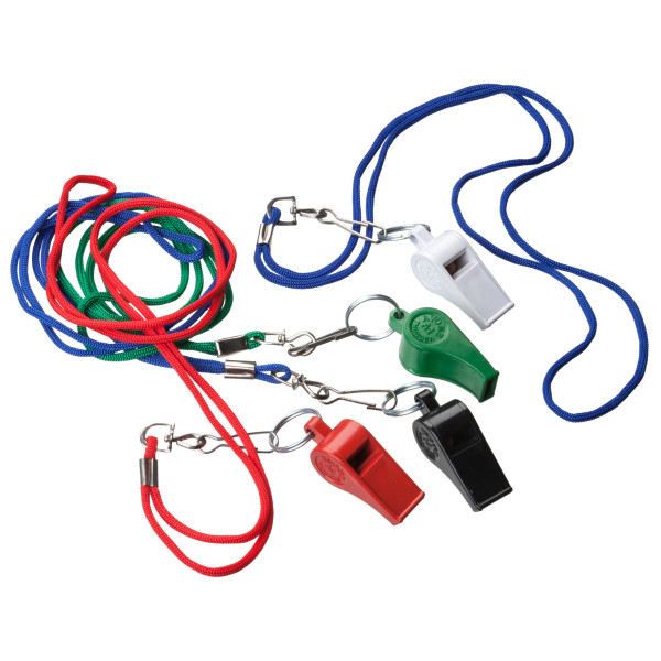 Whistle with cord (Pfeife mit Band)