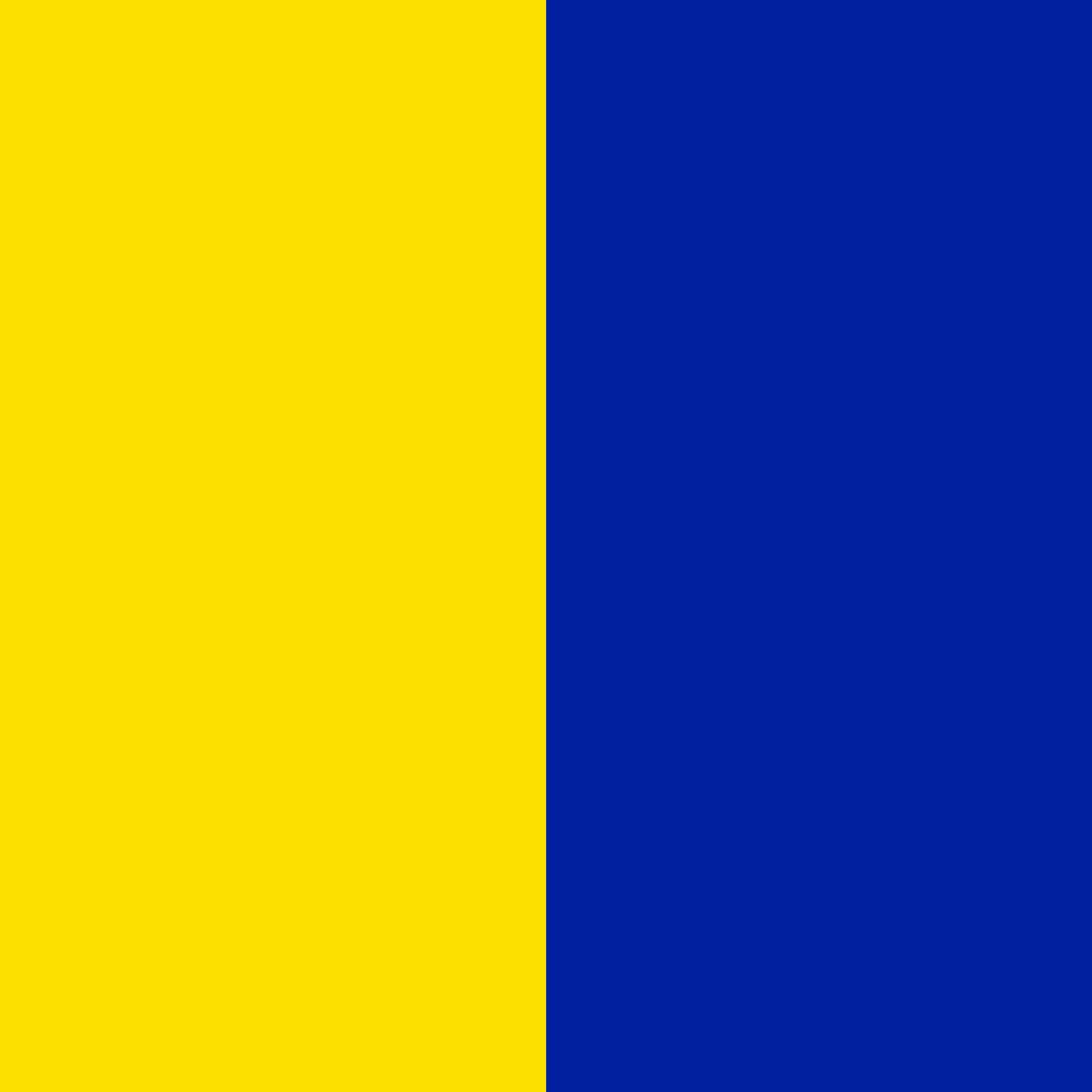 gelb-blau